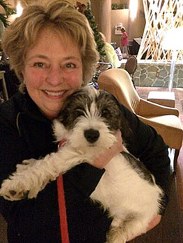 Jo Anne Hacker & Puppy